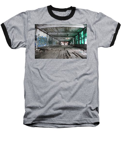 Inside Detroit Packard Plant  Baseball T-Shirt