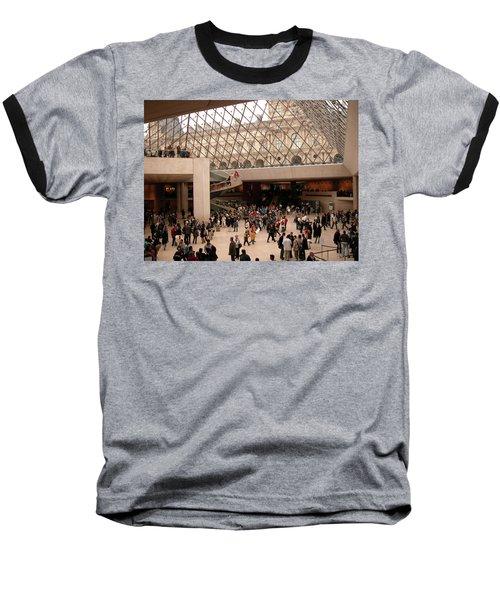 Baseball T-Shirt featuring the photograph Inside Louvre Museum Pyramid by Mark Czerniec
