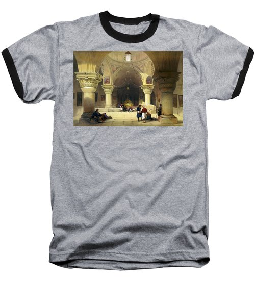 Inside The Church Of The Holy Sepulchre In Jerusalem Baseball T-Shirt