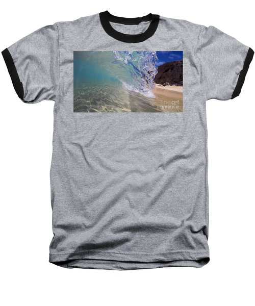 Inside The Curl Big Beach Maui Wave Baseball T-Shirt