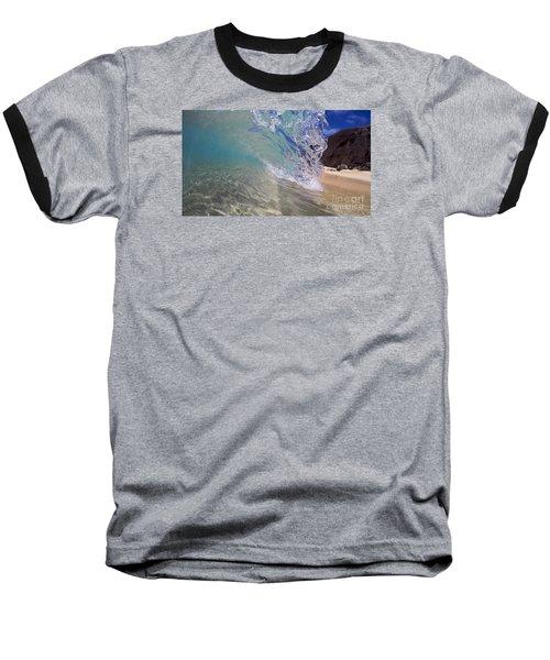 Inside The Curl Big Beach Maui Wave Baseball T-Shirt