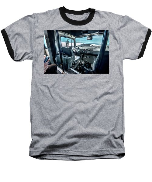 Inside The Etna Tour Unimog Baseball T-Shirt by Patrick Boening