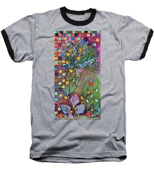 Inside The Garden Wall Baseball T-Shirt by Donna Blackhall