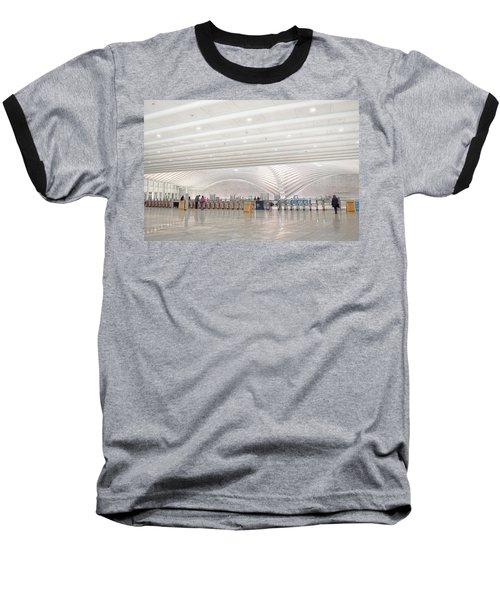 Inside The Oculus - New York City's Financial District Baseball T-Shirt