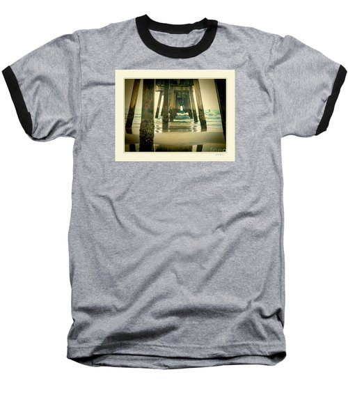 Baseball T-Shirt featuring the photograph Inside The Pier by Linda Olsen