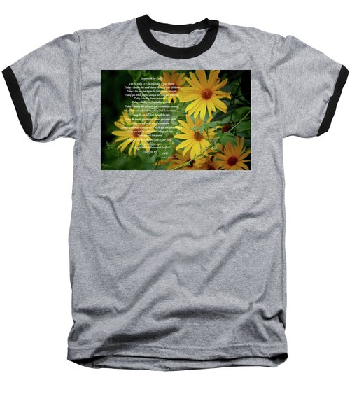 Inspiration For Today Floral Baseball T-Shirt by Cathy  Beharriell
