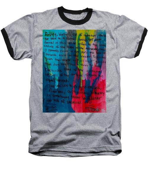 Inspiration From Warhol Baseball T-Shirt