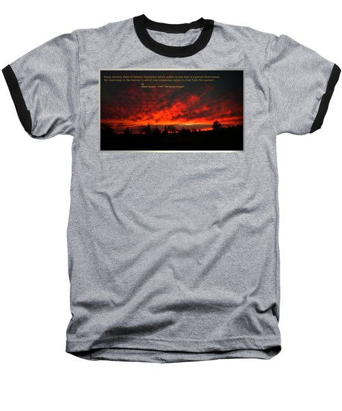 Baseball T-Shirt featuring the photograph Inspiration by Joyce Dickens