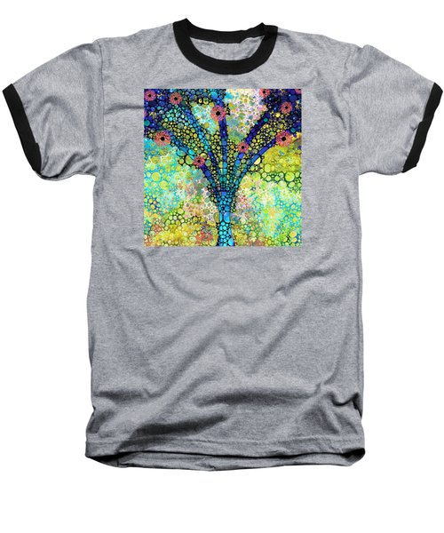 Inspirational Art - Absolute Joy - Sharon Cummings Baseball T-Shirt by Sharon Cummings