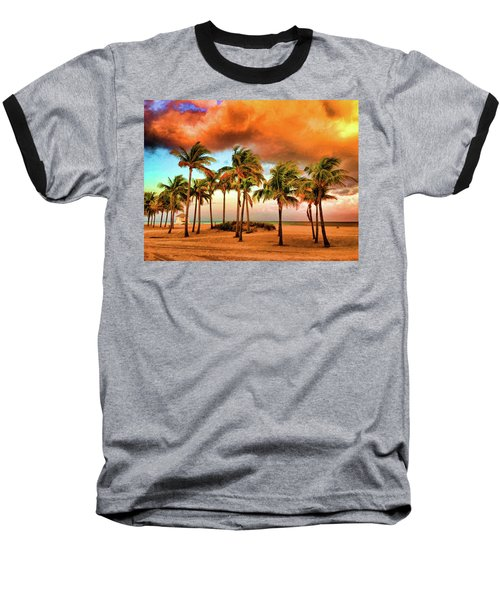 Crandon Park Beach Baseball T-Shirt