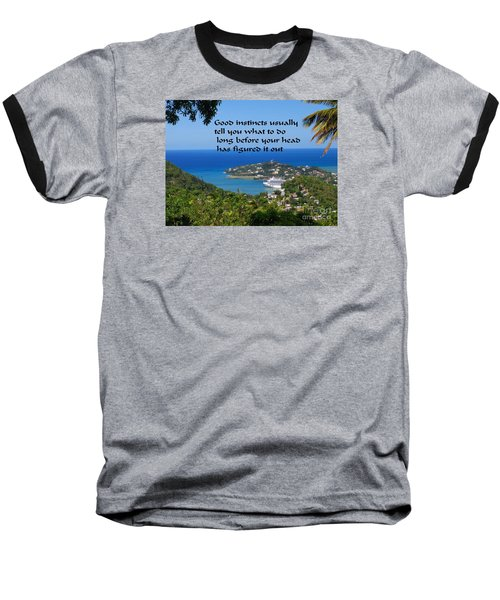 Baseball T-Shirt featuring the photograph Instincts by Gary Wonning