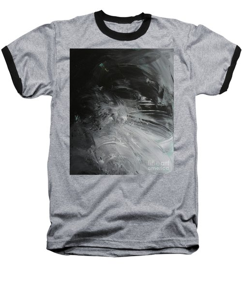 Baseball T-Shirt featuring the painting Intelligent Answers by Robin Maria Pedrero