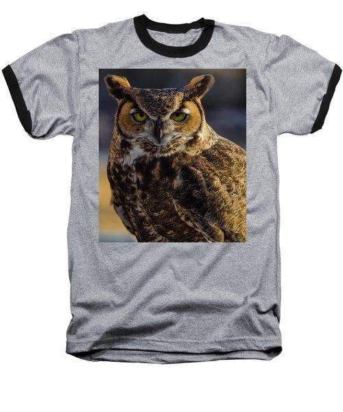 Intense Owl Baseball T-Shirt
