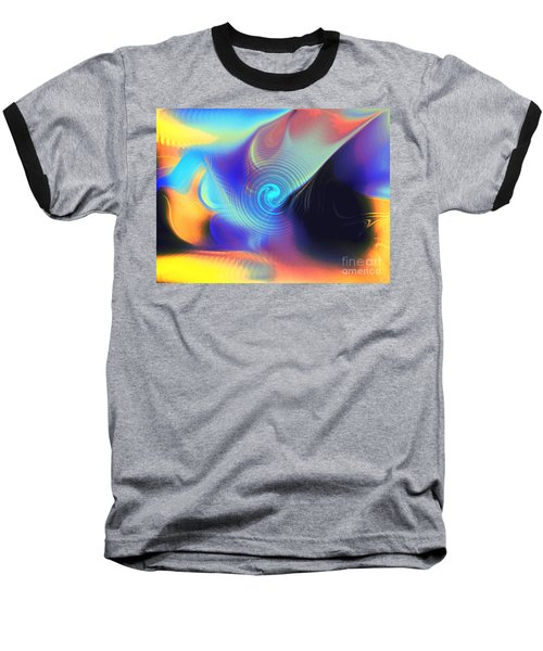 Intensity Vs Energy Baseball T-Shirt by Yul Olaivar