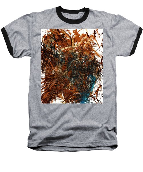Intensive Abstract Expressionism Series 46.0710 Baseball T-Shirt by Kris Haas