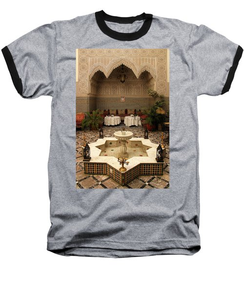 Interior Of A Traditional Riad In Fez Baseball T-Shirt by Ralph A  Ledergerber-Photography
