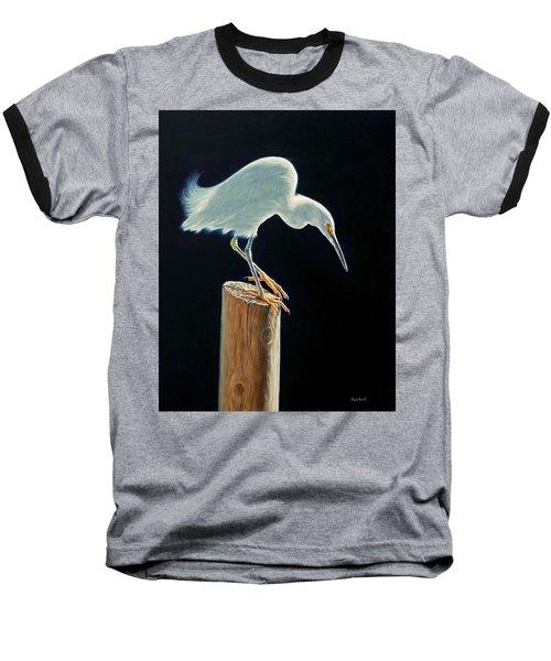 Interlude - Snowy Egret Baseball T-Shirt