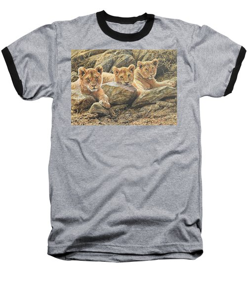 Interrupted Cat Nap Baseball T-Shirt