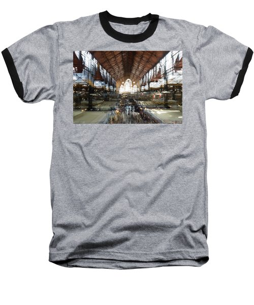 Baseball T-Shirt featuring the photograph Interstellar Transit Hall by Alex Lapidus