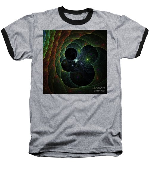 Baseball T-Shirt featuring the digital art Into Space And Time by Deborah Benoit