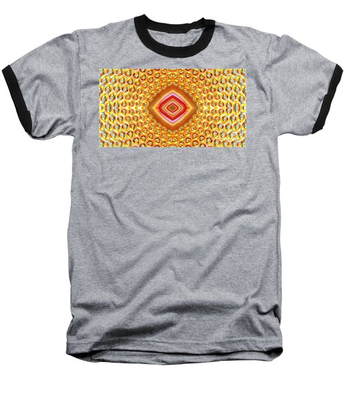 Baseball T-Shirt featuring the digital art Into The Centre - Horizontal by Wendy Wilton