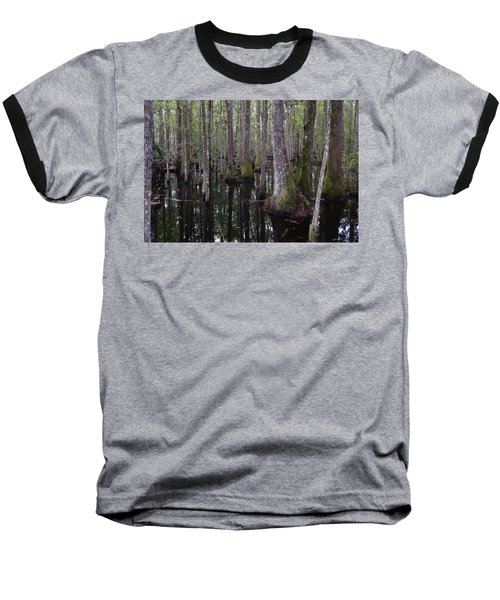 Into The Cypress Swamp Baseball T-Shirt