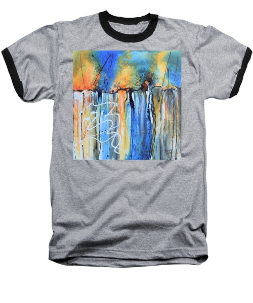 Into The Earth Baseball T-Shirt by Nancy Jolley