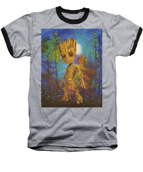 Into The Eyes Of Baby Groot Baseball T-Shirt