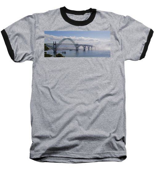 Into The Fog At Newport Baseball T-Shirt by Mick Anderson