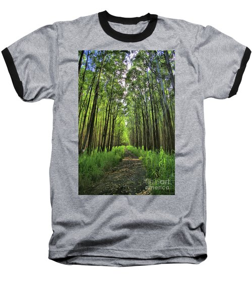 Baseball T-Shirt featuring the photograph Into The Forest by DJ Florek
