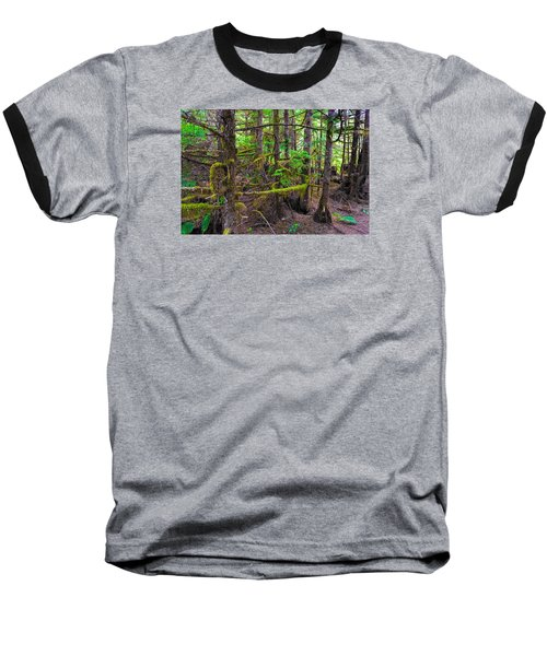 Into The Forest Baseball T-Shirt by Lewis Mann