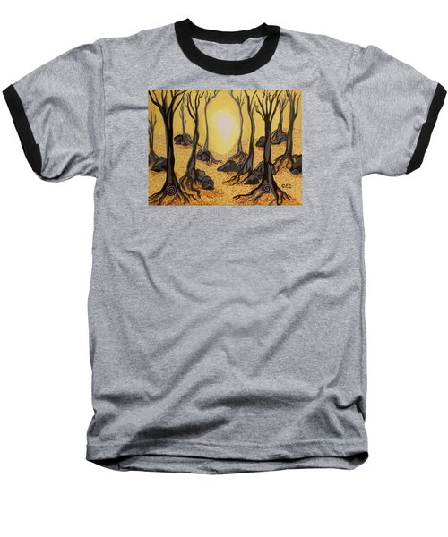 Into The Light Baseball T-Shirt by Carolyn Cable