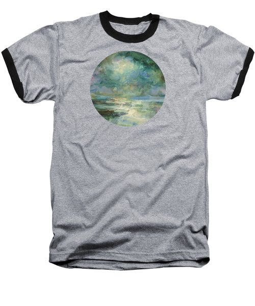 Into The Light Baseball T-Shirt by Mary Wolf