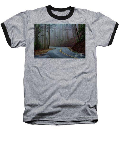 Into The Mist Baseball T-Shirt by Douglas Stucky