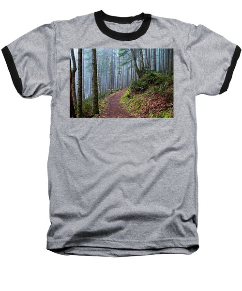 Into The Misty Forest Baseball T-Shirt