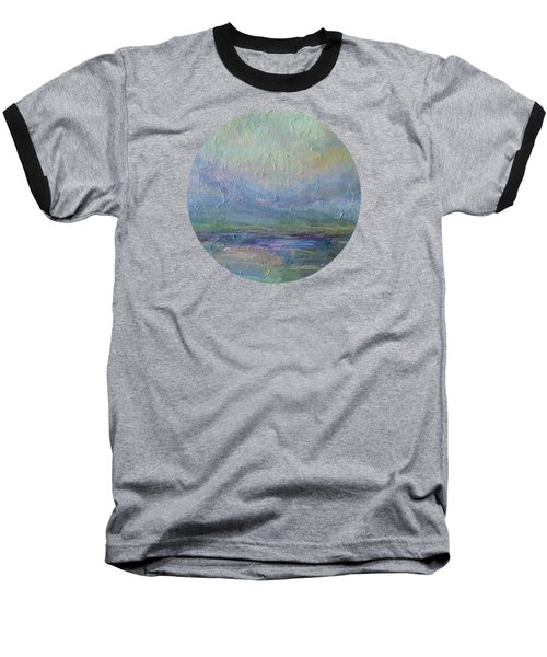 Baseball T-Shirt featuring the painting Into The Morning by Mary Wolf