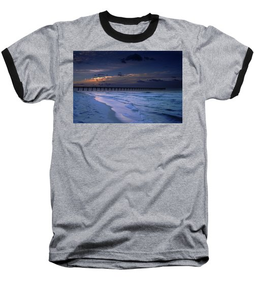Baseball T-Shirt featuring the photograph Into The Night by Renee Hardison