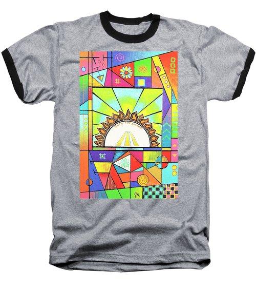 Into The Sun Baseball T-Shirt by Jeremy Aiyadurai