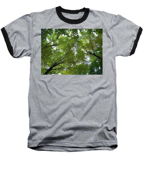 Baseball T-Shirt featuring the photograph Into The Trees by Michael  TMAD Finney