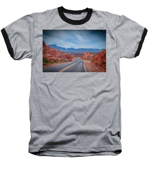 Into The Valley Of Fire Baseball T-Shirt by Mark Dunton