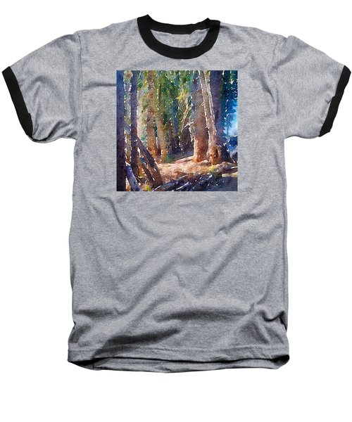 Baseball T-Shirt featuring the photograph Into The Woods Again by Ronda Broatch