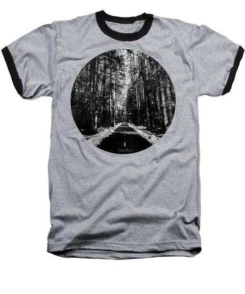 Into The Woods, Black And White Baseball T-Shirt