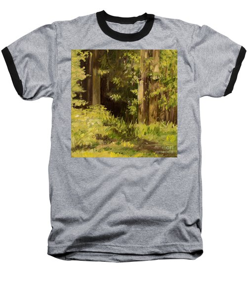 Into The Woods Baseball T-Shirt by Laurie Rohner