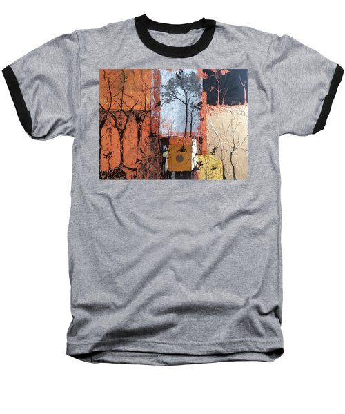 Into The Woods Baseball T-Shirt by Pat Purdy