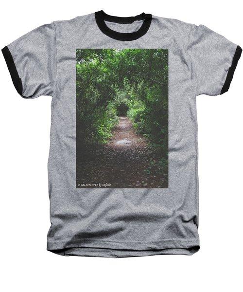 Into The Wormhole Baseball T-Shirt by Stefanie Silva