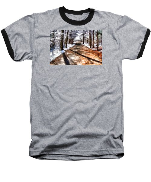 Into Winter Baseball T-Shirt by Betsy Zimmerli