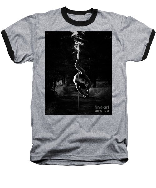 Inverted Pole Dance In Forest Baseball T-Shirt