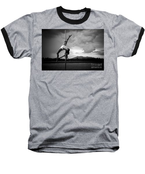 Inverted Splits Pole Dance Baseball T-Shirt