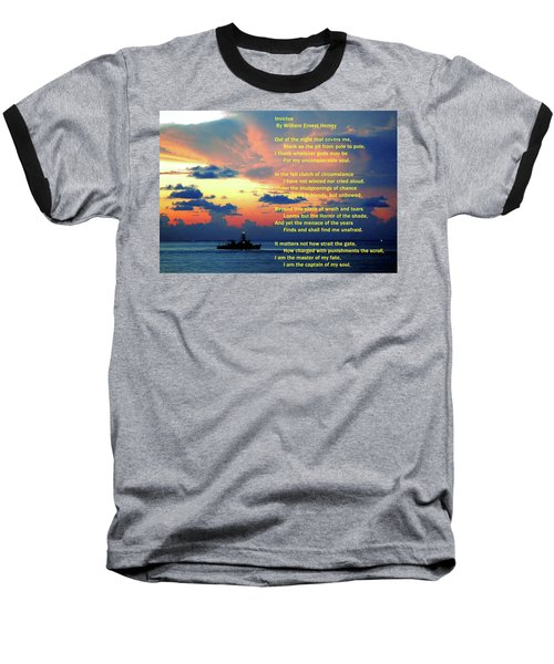 Invictus By William Ernest Henley Baseball T-Shirt