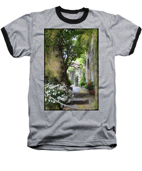 Inviting Courtyard Baseball T-Shirt by Carla Parris